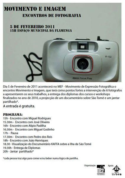 Conferência, Movimento Expressão Fotográfica – Lisboa
